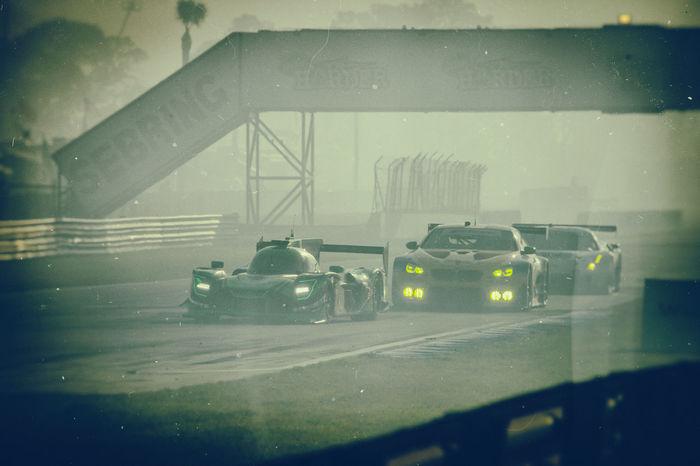 Racing through the smoke Racing Foggy Racecars Speedway Florida