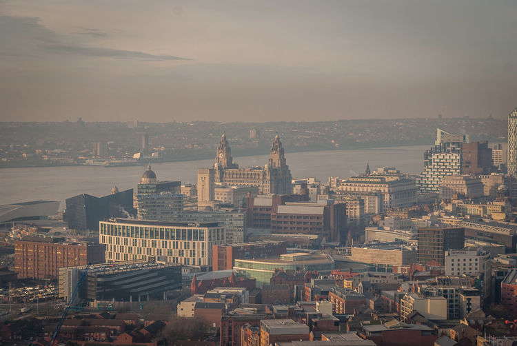 Liverpool from above Aerial View Architecture Architecture Building Exterior Capital Cities  City City Cityscape Cityscapes Community Development Human Settlement Lancashire Liver Liverpool Liverpool, England Mersey Merseyside Outdoors Perspective Residential District Top Perspective Tourism Town Waterfront