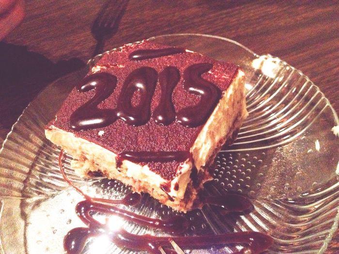 Happy New Years! Taking Photos Good Times Tiramisu Happy New Year 2015  Dinner Date Random Happy Love