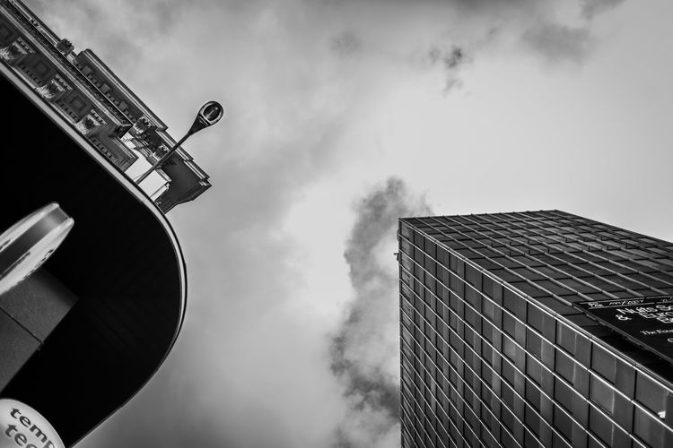 Low Angle View Sky Architecture Built Structure Building Exterior Cloud - Sky Nature Office Building Exterior Building No People Tall - High Tower