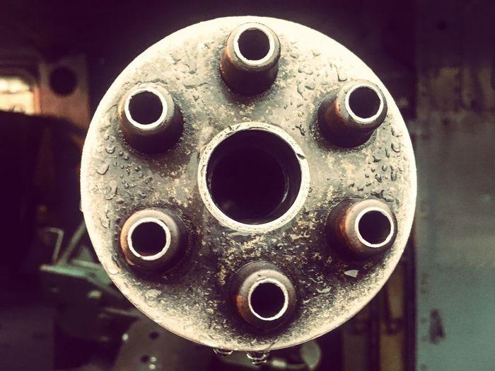 Huey machine gun at War Remnants Museum, Ho Chi Minh City, Vietnam War Barrel Machine Gun Close-up Circle Indoors  Geometric Shape No People Shape Technology Focus On Foreground Metal Single Object Design 2018 In One Photograph