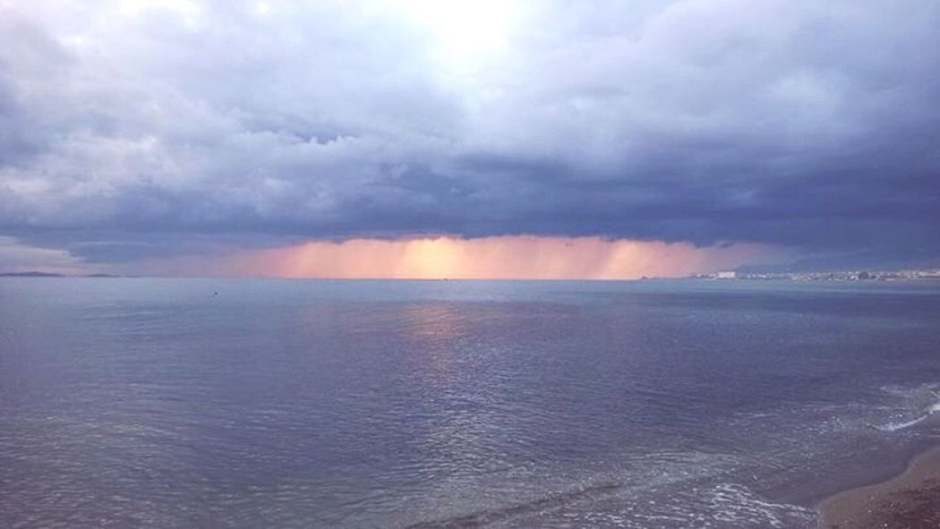 Sea Sunset Scenics Beauty In Nature Horizon Over Water Dramatic Sky Nature Cloud - Sky Sky Storm Cloud Beach