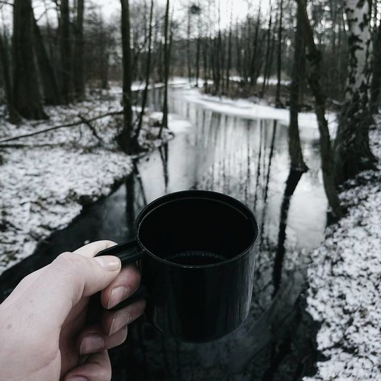 Lieblingsteil My favorite thing in cold days Human Hand Forest Winter Landscape EyeEm Best Shots Exceptional Photographs