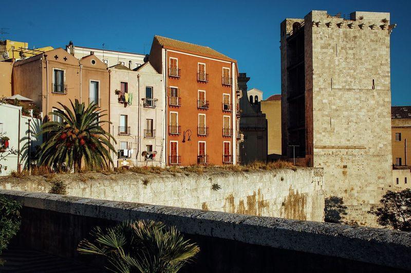 Bastione Building Cagliari Casteddu Houses Italia Italy Santa Croce Sardegna Sardinia Torre Dell'Elefante Tower