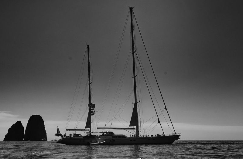 Sea Travel Destinations Sky Outdoors Silhouette Nautical Vessel No People Day Nature Capri Capri Italy Bw_collection BW_photography Bw_photooftheday Nature Full Frame Silhouette Photography Black And White Friday