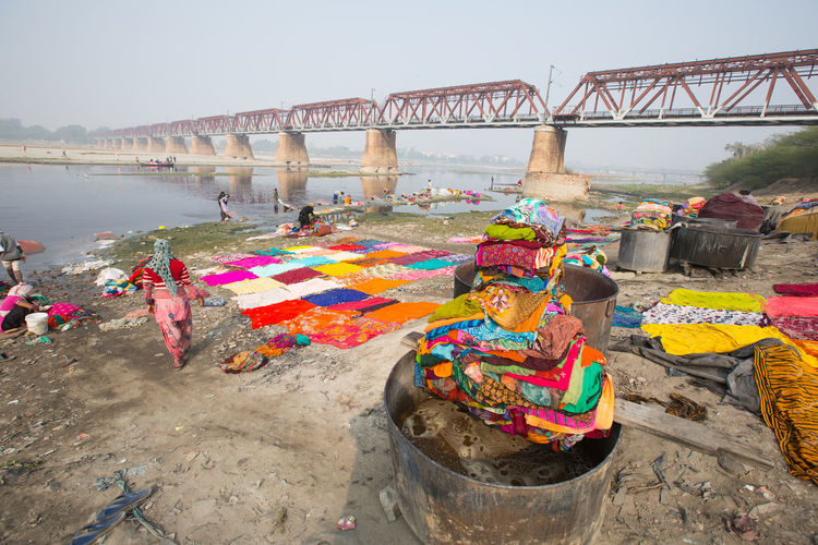 Activity at the dhoby ghat Agra Dhoby Ghat Dhobyghaut Large Group Of People Multi Colored Outdoors People Sarre Travel Destinations