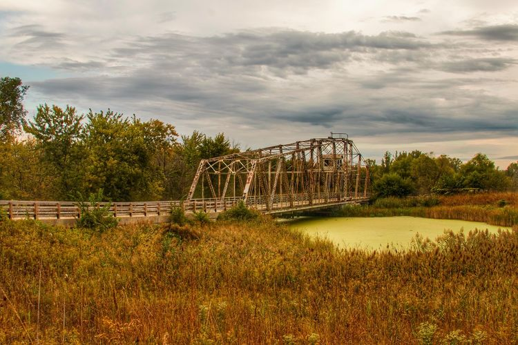 Bridge - Man Made Structure Cloud - Sky Tranquil Scene Nature Scenics Tranquility Beauty In Nature Enjoying Life Early Fall Leisure Activity Outdoors Finding New Frontiers The Great Outdoors - 2017 EyeEm Awards