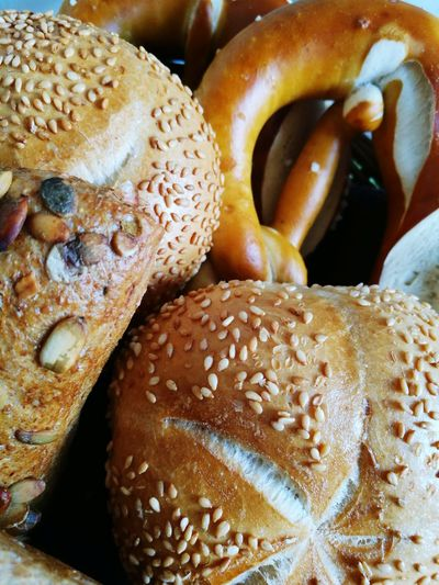 Friday morning Foodphotography Tasty Eating Healthy Eating Morninglikethis Foodie Morning Breakfast Day Brezel Bavaria Delicous Yummy Bread Close-up Food And Drink Pumpkin Seed Full Frame Sesame Seed Bun Baked White Bread Sunflower Seed