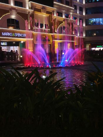 The beauty of light Fountain Lights Eastwood Nighttime