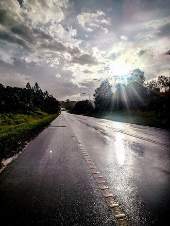 lluvia más Sol complementos perfectos Cloud - Sky Road Water No People Sky Landscape Car EyeEmNewHere