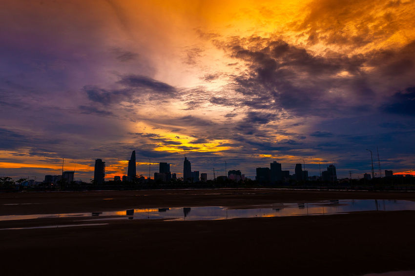 Twilight Architecture Beauty In Nature Building Building Exterior Built Structure City Cityscape Cloud - Sky Dramatic Sky Landscape Nature No People Office Building Exterior Orange Color Outdoors Silhouette Sky Skyscraper Sunset Urban Skyline EyeEmNewHere