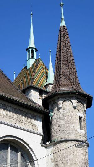 Landesmuseum Architecture Blue Built Structure Clear Sky Façade History Landesmuseum Zürich Low Angle View Outdoors Schweiz Switzerland The Past Tower Zürich