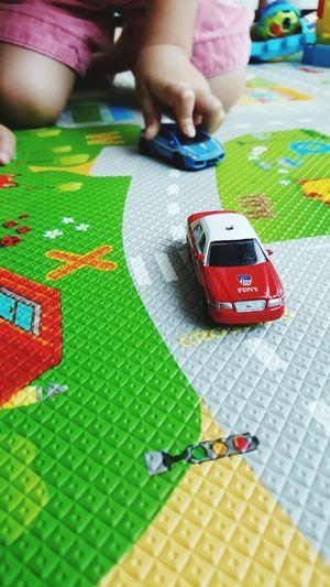 The Week On EyeEm High Angle View Child Lifestyles Indoors  From My Point Of View From A Child's Point Of View Playtime Cars Kids Playing