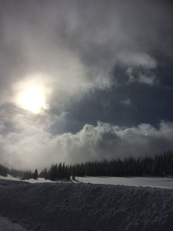 Snow ❄ Snow Winter Sky And Clouds Snow Bank Wolf Creek Pass Sun No People After The Snowstorm Roadtrip Sunlight EyEmNewHere