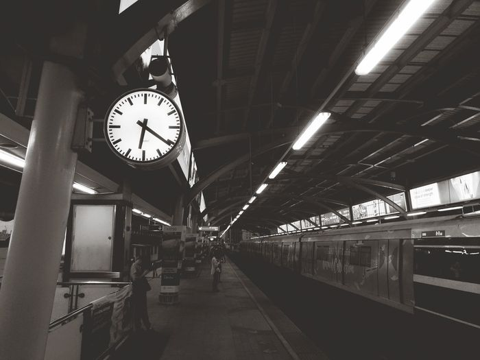 sky train Clock Face Minute Hand Clock Hour Hand Time City Roman Numeral Railroad Station Platform Railroad Station Illuminated