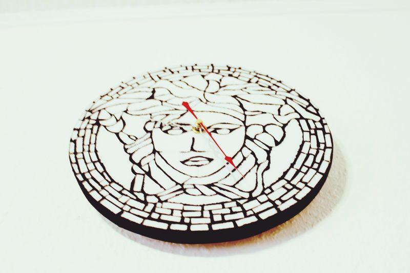 My Mosaik Work: The Medusa Clock by Tahsin Hanli TH Tahsin Hanli Medusa Head EyeEm Gallery EyeEmNewHere EyeEm Best Shots Clocks Mosaic Geometric Shape Circle White Background