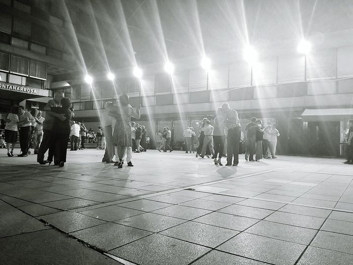Illuminated Night Large Group Of People Performing Arts Event People Adults Only Celebration Real People Adult Architecture Togetherness Rosario Argentina Celebration Tango Tango Night Dancing