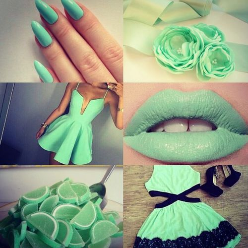 Mint Pastelllove Nails Lipswatch Dress Ootd Acrylic Flowers Mintgreenlemondrop