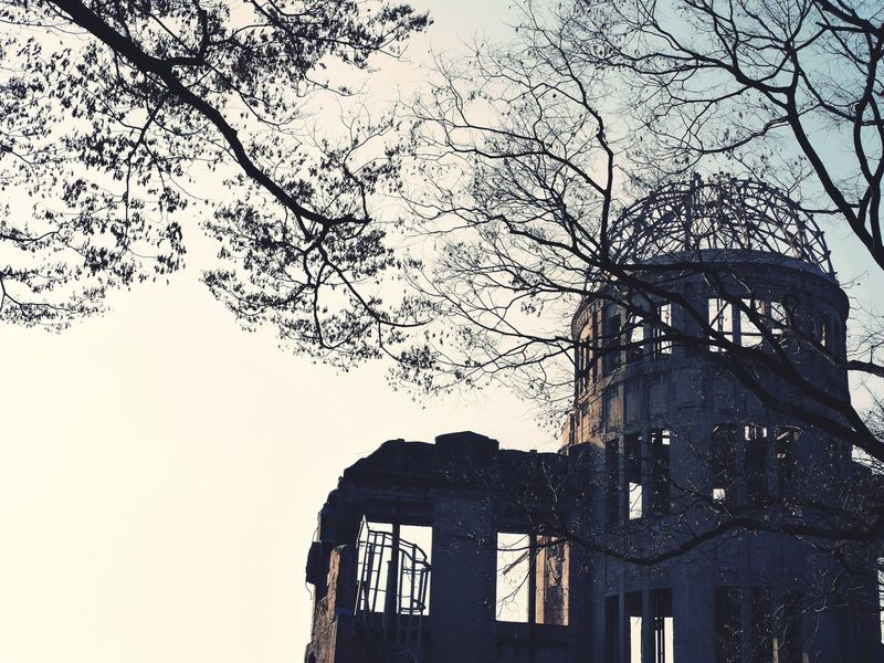 Hiroshima Atomic Atomic Bomb Atomic Bomb Dome Piace Park Tree Sky Japan Japan Photography Japanese  Shadow Shades Of Grey