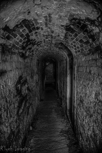 Arch Architecture Built Structure Day Deterioration Diminishing Perspective Empty Long Narrow No People Old The Way Forward Tunnel Vanishing Point Walkway