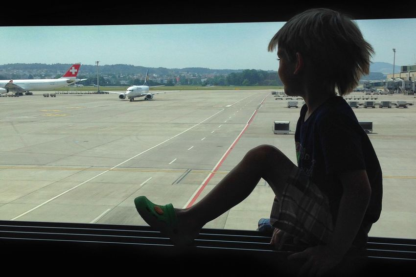 In the airport Airport Airport Waiting Looking Out Awaiting Swiss Airlines Swiss Airplane Looking Out The Window Child Boy Traveling During Travel Journey Kid Travelling Kids Travelling Boy Travels Away Holidays Far From Home FAR AWAY Learn & Shoot: Balancing Elements Long Goodbye Be. Ready.