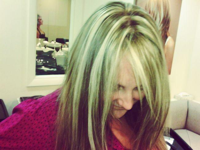 Fashion Hairdesing Hair Salon Highlights Hair Done