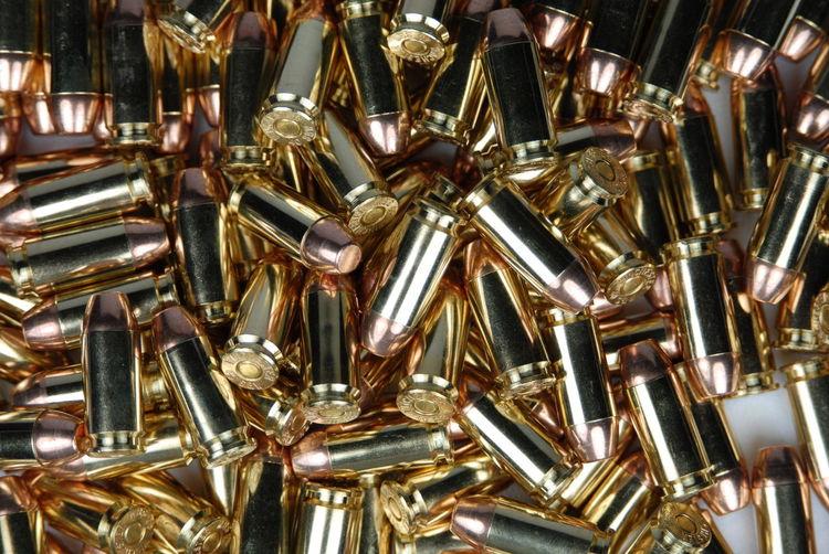 Full Frame Shot Of Ammunitions