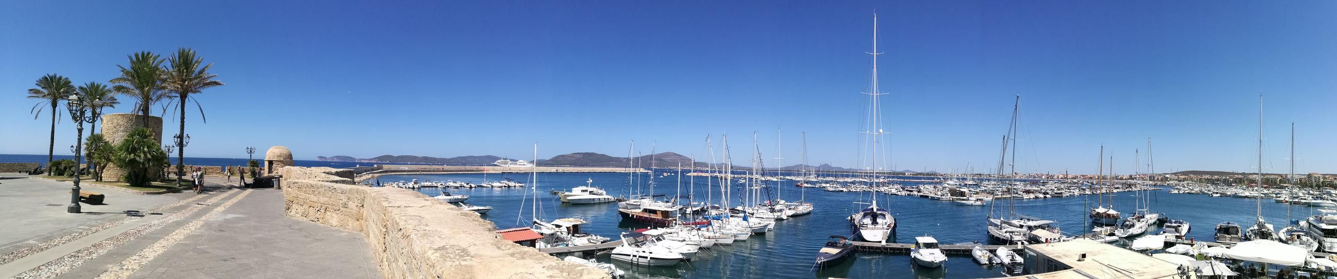 Sea Sunny Water Blue Sky Summer Outdoors Travel Destinations Vacations Sunlight Clear Sky Nature Horizon Over Water Alghero Yacht Sardegna