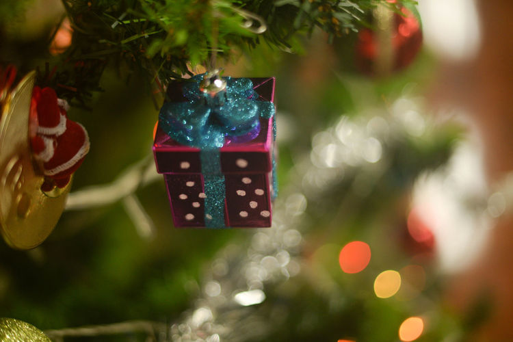 Celebration Christmas Christmas Decoration Christmas Lights Christmas Ornament Christmas Present Christmas Tree Close-up Day Focus On Foreground Gift Holiday - Event Indoors  No People Tradition Tree