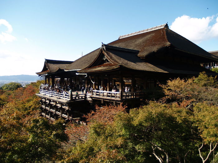 Kiyomizu-Dera By Trees Against Sky