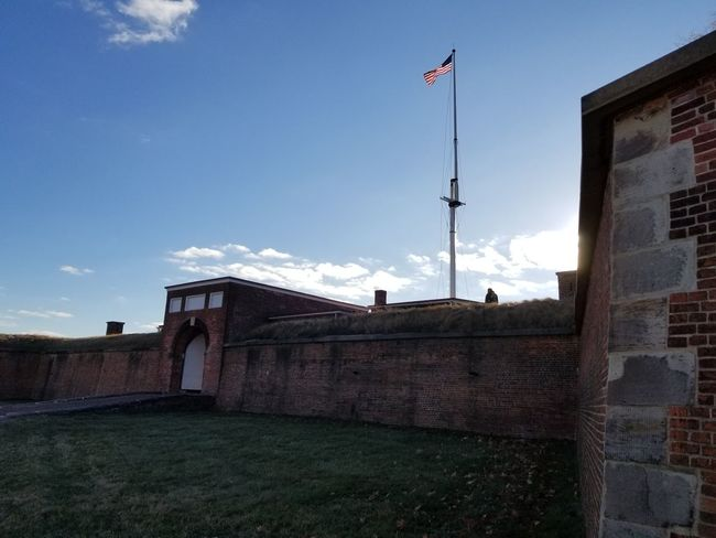 Fort McHenry and it's morning glory. Flag Sky Day Outdoors Architecture No People