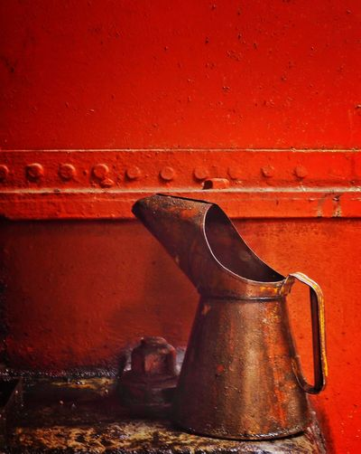 The Oil Can! OlympusPEN Red Still Life Industrial Oil Can Slate Museum Art Is Everywhere