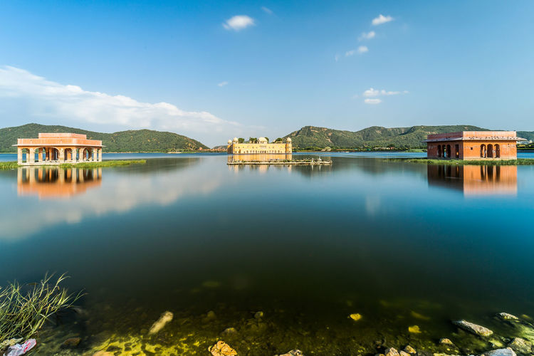 Architecture Beauty In Nature Building Exterior Built Structure Day Jay Mahal Lake Nature No People Outdoors Reflection Sky Water