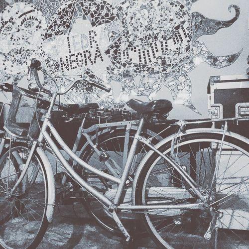 Malaysia Johor Bahru Piedranegra Restaurant Blackandwhite Bicycles