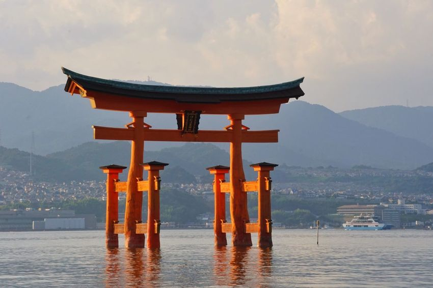 Buddhism Culture Buddhism Torii Gate TORII Tori Religion Spirituality Built Structure Architecture Place Of Worship Water Mountain Travel Destinations Waterfront Beauty In Nature Shrine Scenics Sea Sunset