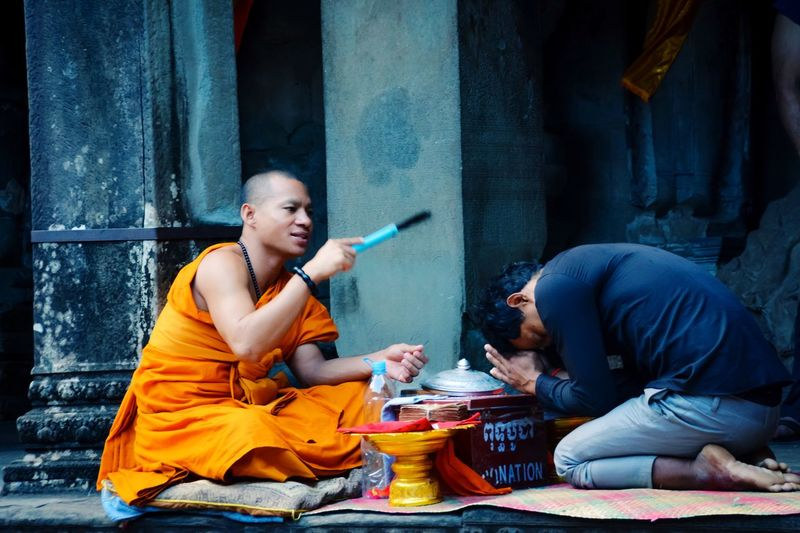 Ritual Ritual Ceremony Praying Budhism Blessing EyeEm Selects Males  People Adult Men