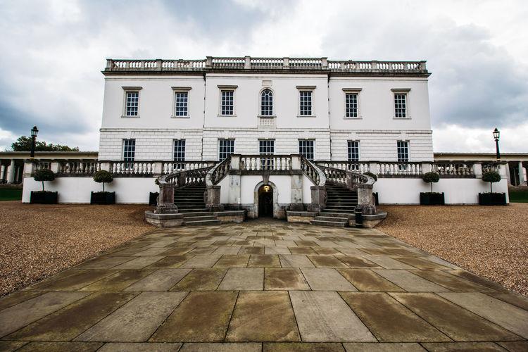 Architecture Building Exterior Built Structure Cloud - Sky Day No People Outdoors Queen's House Sky