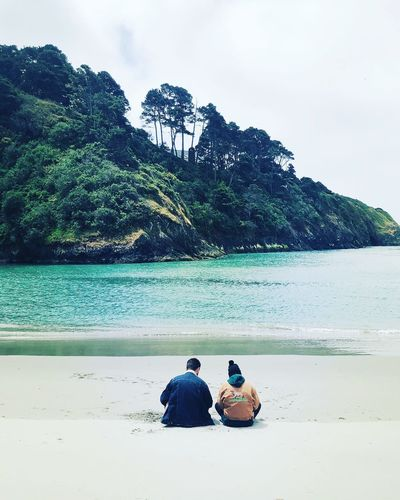 Romance in Mendocino Hipster Couple Sky Tree Land Nature Two People Togetherness Tranquility Lifestyles Tranquil Scene Sitting