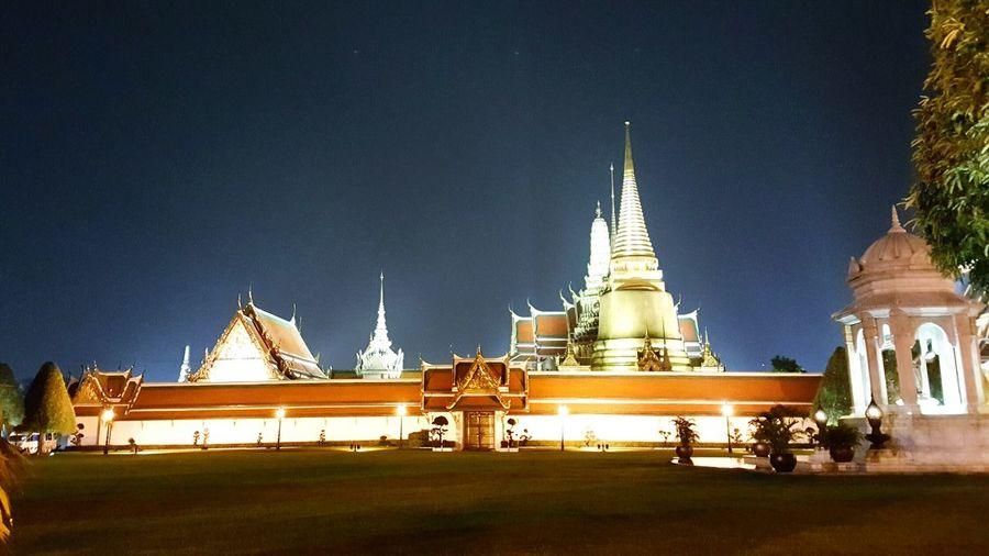 Grandpalacebangkok Bangkok Thailand Architecture Night