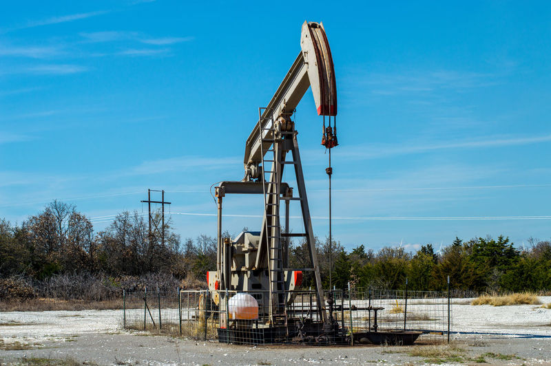 Day Gas Drilling Natural Gas Well Oil Drilling Oil Pump Oil Well Oklahoma Energy Outdoors Petroleum Pump Jack