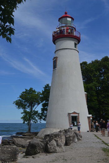Marblehead Lighthouse Marblehead, OH Lighthouse Architecture Day Lighthouse Low Angle View Nature No People Outdoors Sky Tree