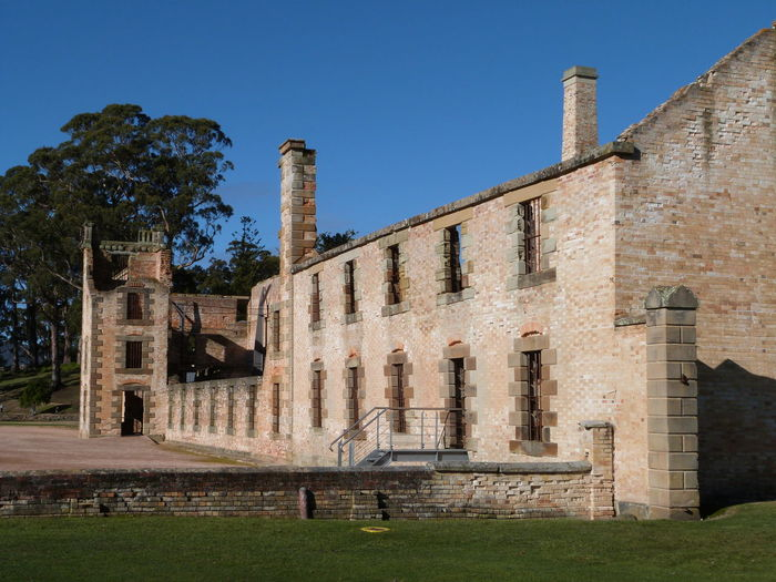 Australian Convict Ruins. Tasmania Convicts Convicts Jail Port Arthur Port Arthur Historic Site EyeEm Selects Castle Grass Sky The Past Ancient Civilization Fortified Wall Historic Historic Building