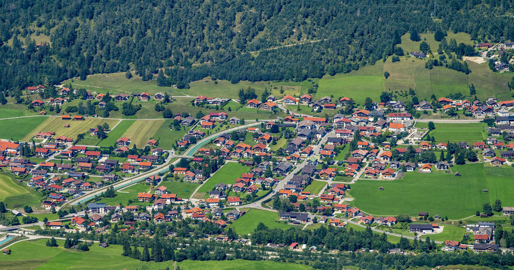 aerial view to