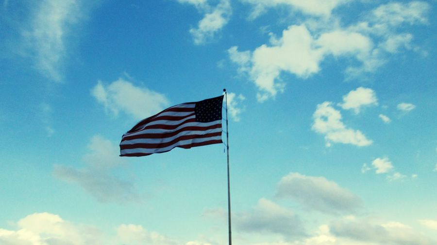 american flag waving strong Stars And Stripes Patriotism Blue Flag Cultures Striped Sky Cloud - Sky American Flag Waving National Flag Symbolism National Icon Fluttering Flag Pole