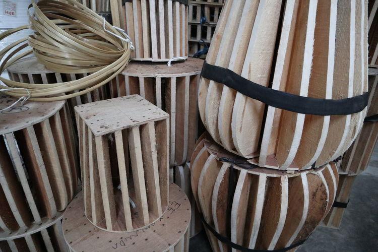 Full frame shot of wood in store