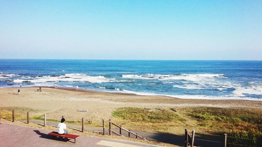日本の海 大洗 Japan Ibaraki 海 大洗 Beach Sea Sand Horizon Over Water Water Vacations
