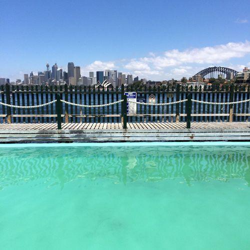 Summer Sydney Harbour pool Hello World