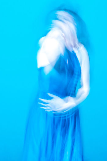 Abstract Photography Dance Dance Performance Experimental Folkwang University Abstract Ballet Ballet Dancer Blue Blue Background Blurred Movement Close-up Colored Background Dancer Day Experimental Photography Indoors  Long Exposure