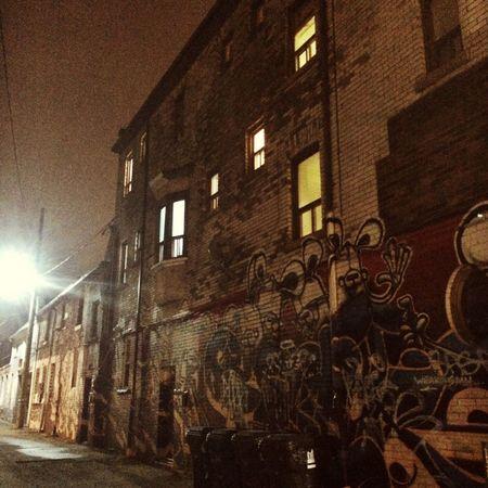 Back Alleys Toronto at Night