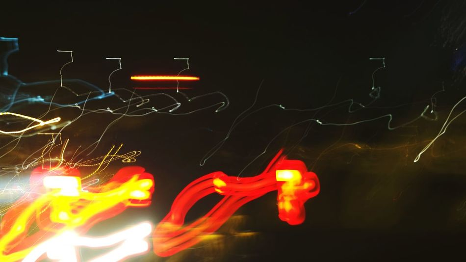 Illuminated Night Long Exposure Car Trails